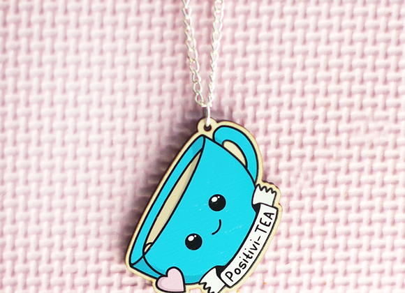 Positivity Tea Cup Necklace