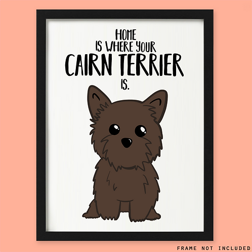 Personalised Cairn Terrier Print