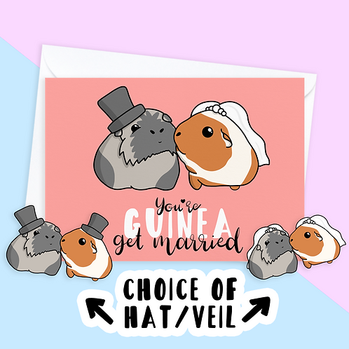 Guinea Pig Wedding Card