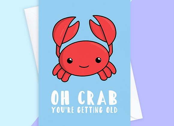 funny getting old card, funny birthday card for mum