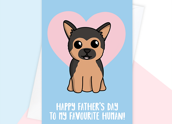 german shepherd fathers day card, fathers day card from german shepherd