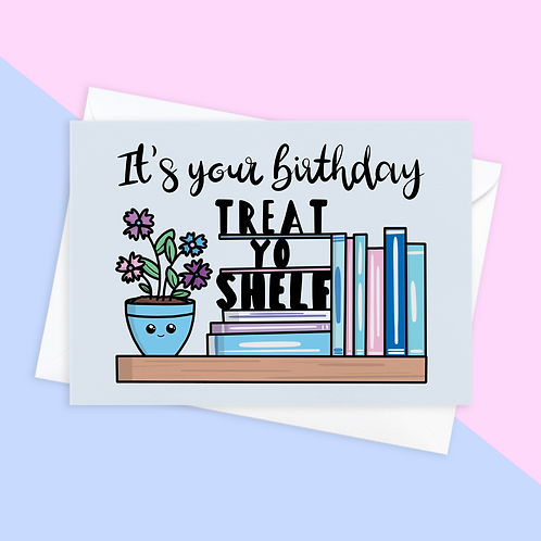 Book Lover Birthday Card