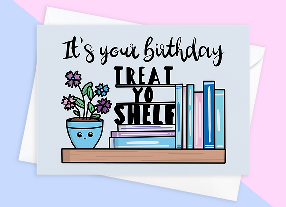 book lover birthday card, birthday card for librarian