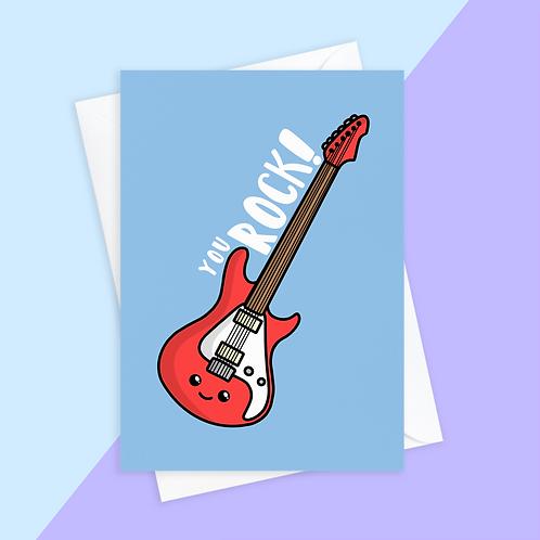 You Rock Guitar Card