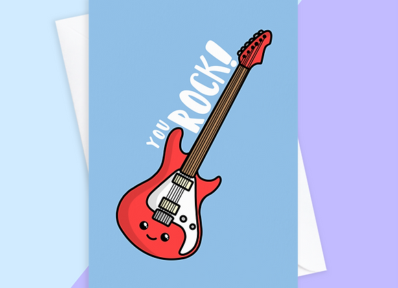 You Rock Guitar Card