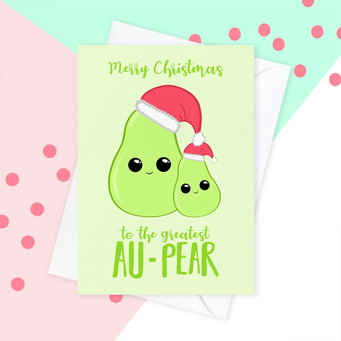 Au Pair Christmas Card