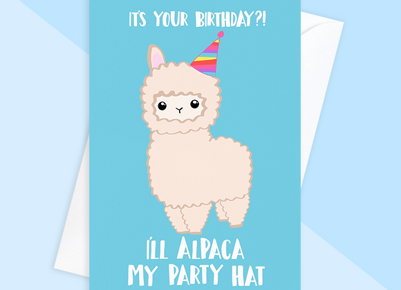 Alpaca Birthday Card, Funny Birthday Card, Tori's Little Bubble