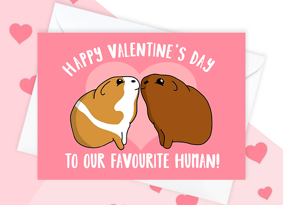 Guinea Pig Valentine's Card, Valentine's Card From Guinea Pig, Tori's Little Bubble