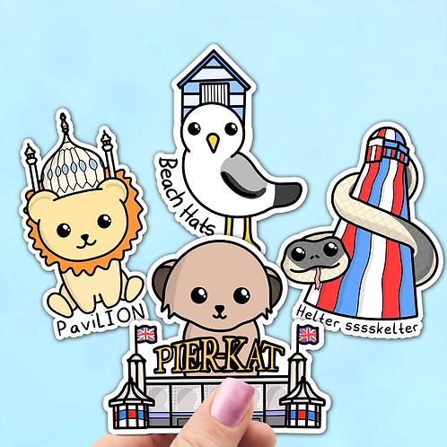 Brighton Themed Sticker Pack