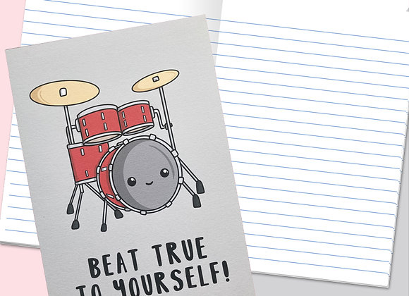 drum notebook, drum themed stationery gift