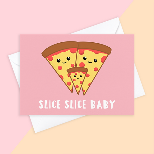 Pizza New Baby Card