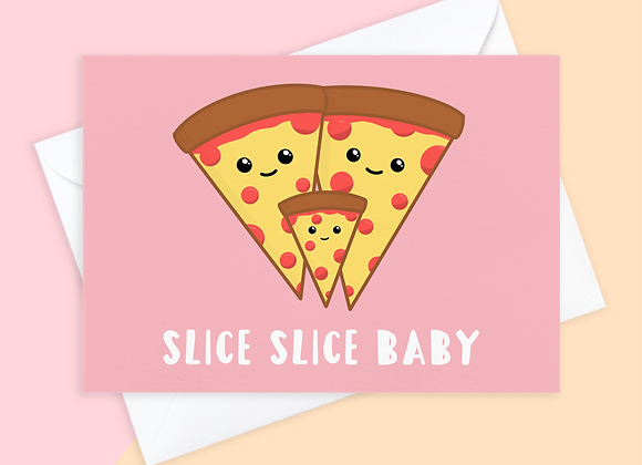 pizza baby shower card, pizza baby pregnancy card