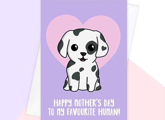 Dalmatian Mother's Day card, Mother's Day card from the dalmatian