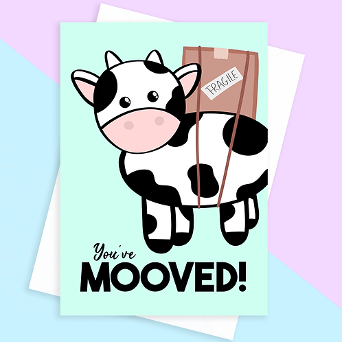 Cow Moving Card