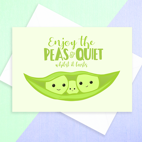 Peas & Quiet Baby Shower Card