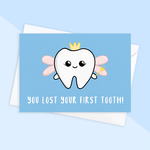 Lost First Tooth Card From Tooth Fairy