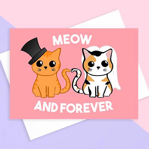Cat Wedding Card