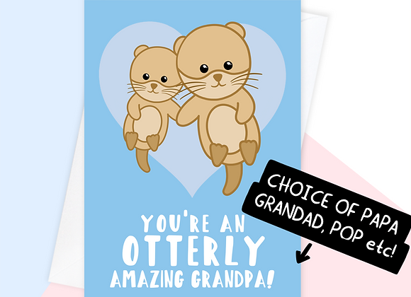 grandpa fathers day card, fathers day card for grandad