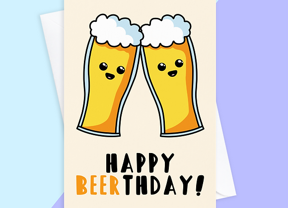 funny beer birthday card, funny birthday card for dad