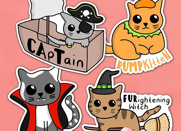 Halloween Cat Sticker Pack