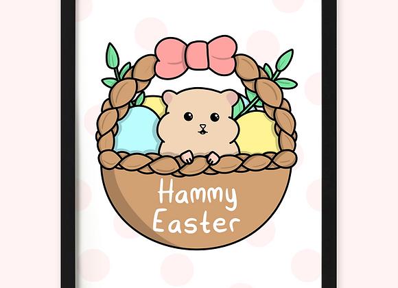 hamster easter print, easter print for hamster owner