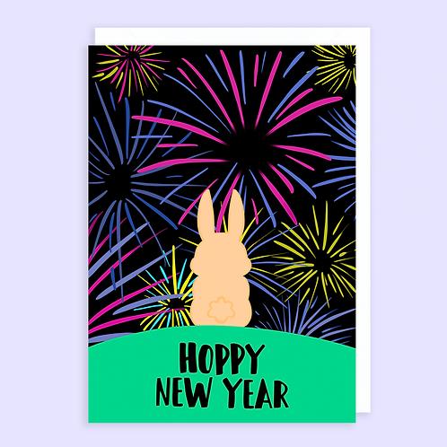 Rabbit New Year Card