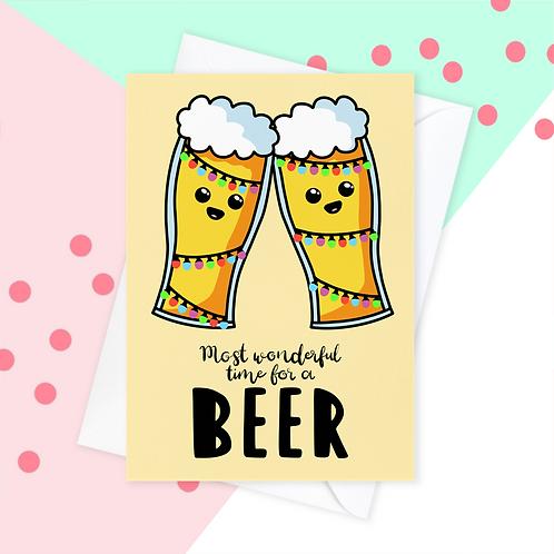 Beer Christmas Card