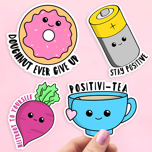 Positivity Motivational Sticker Pack