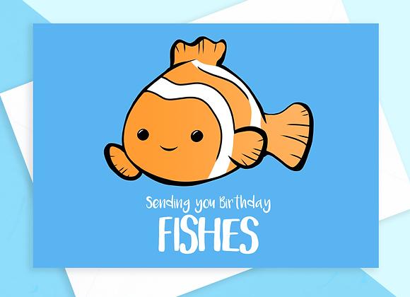fish birthday card, birthday card for fish owner