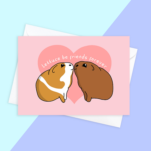 Friendship Guinea Pig Card