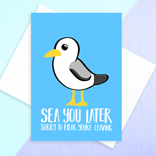 Seagull Leaving Card