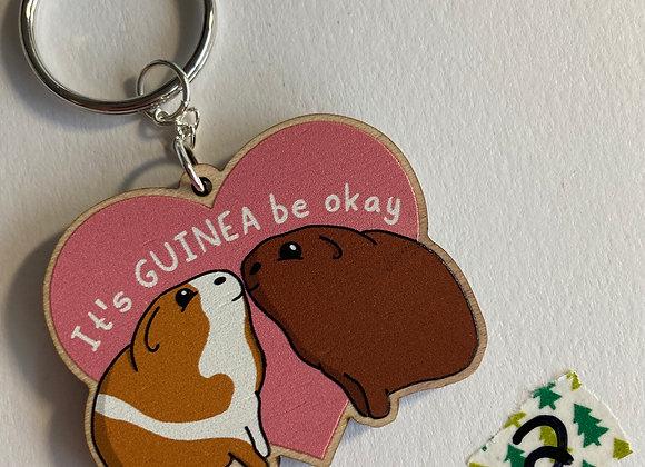 SALE - Slightly Damaged - Guinea Pig Keyring B2