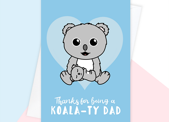 koala fathers day card, fathers day card from toddler