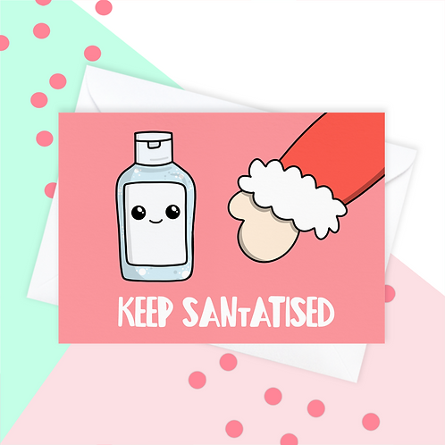 Funny Hand Sanitiser 2020 Christmas Card