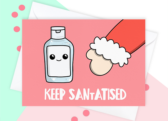 Funny Hand Sanitiser 2020 Christmas Card