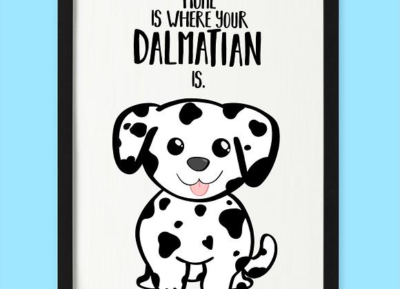 Personalised Dalmatian Print