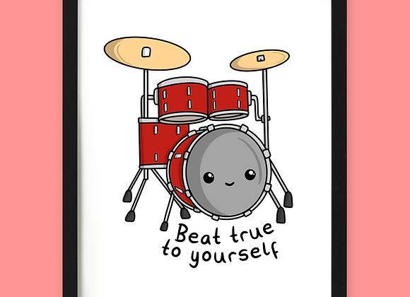 Drummer Motivational Print