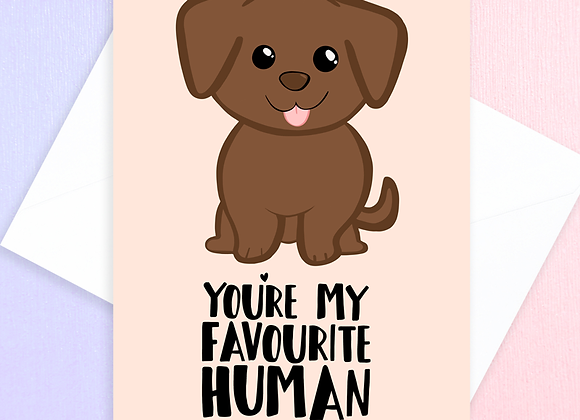 labrador birthday card, card from the labrador
