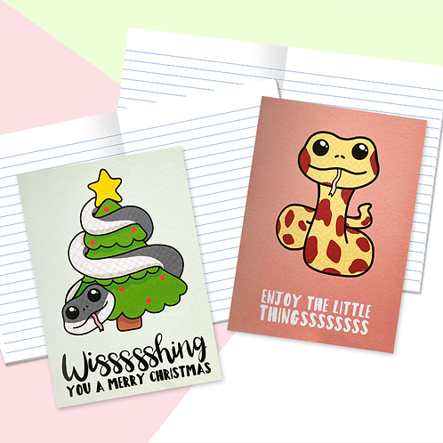 Christmas Snake Mini Notebooks