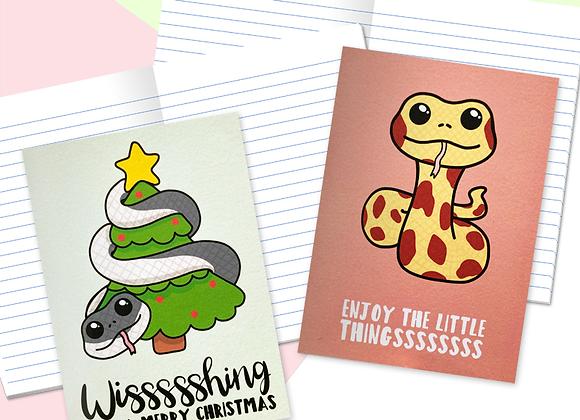 Christmas Snake Mini Notebooks