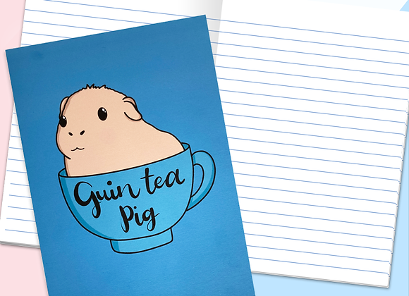 Guinea pig a5 lined notebook, gift for guinea pig owner