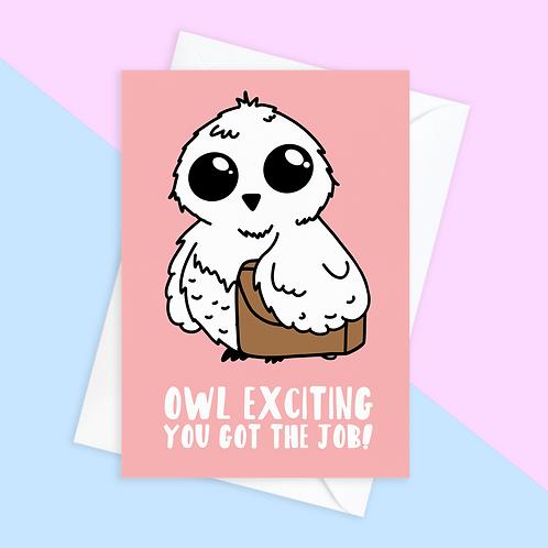 Owl New Job Card