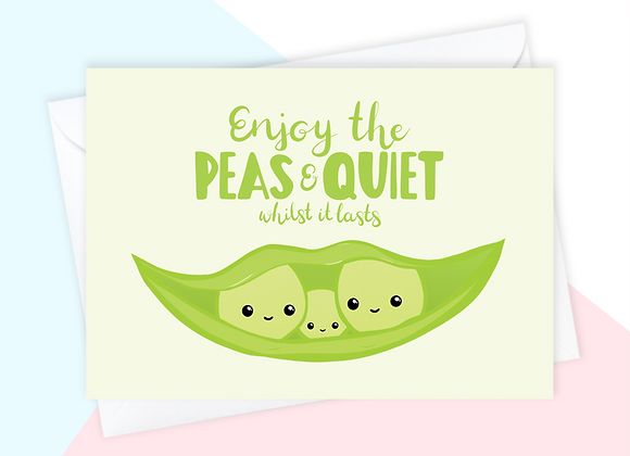 peas in a pod new baby card, peas in a pod maternity card