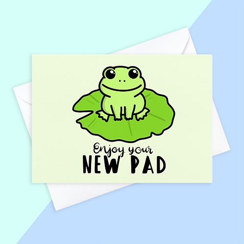 Frog New Home Card