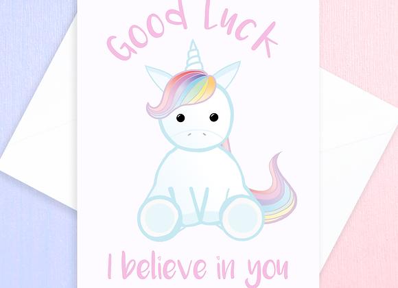 Unicorn Good Luck Card