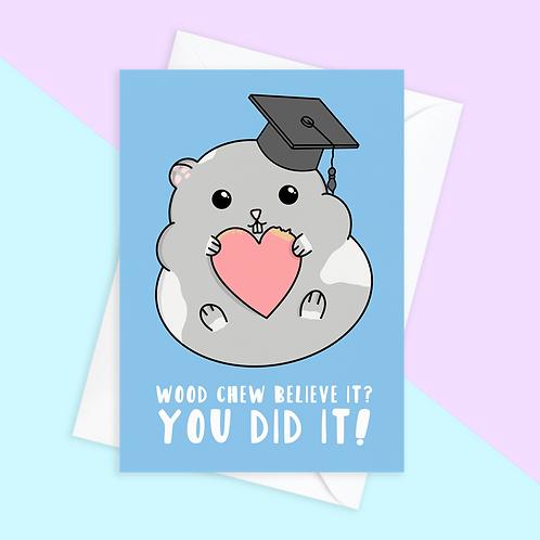 Hamster Graduation Card