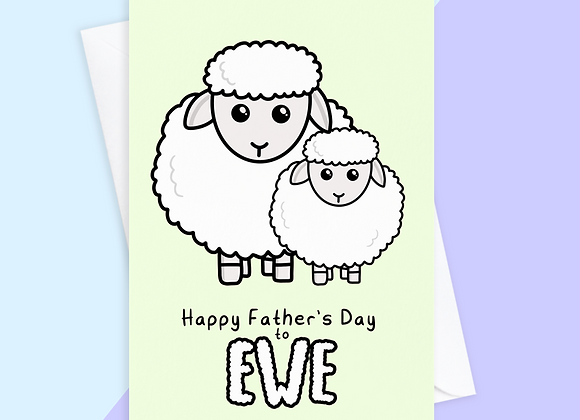 Sheep Father's Day Card