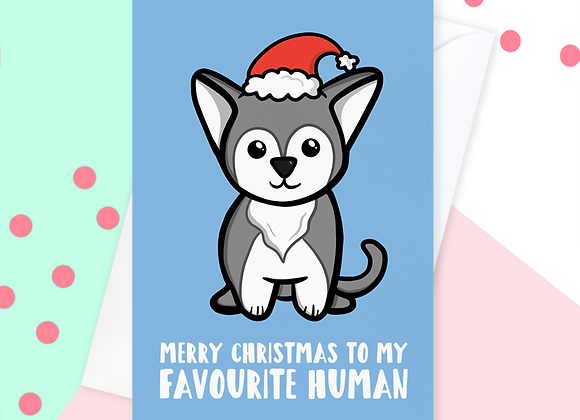 Christmas Card From The Husky