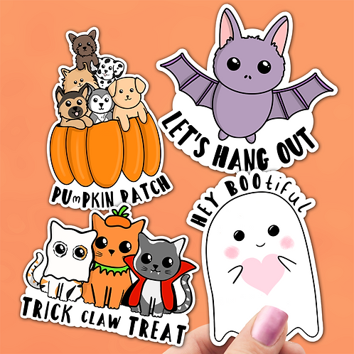 Halloween Puns Sticker Pack