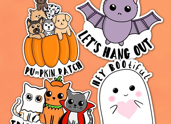 Halloween Puns Sticker Pack